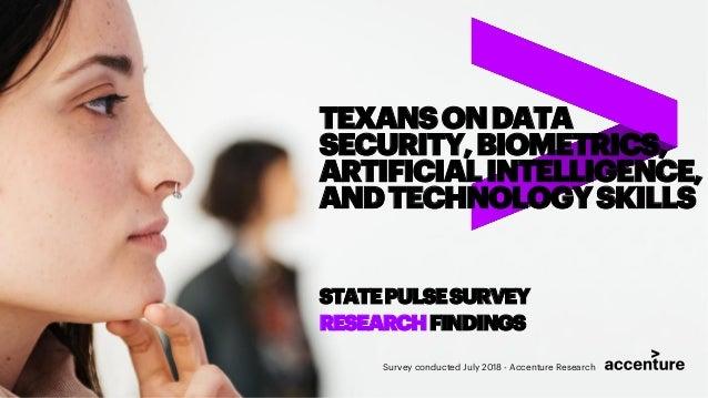 TEXANSONDATA SECURITY,BIOMETRICS, ARTIFICIALINTELLIGENCE, ANDTECHNOLOGYSKILLS STATEPULSESURVEY RESEARCHFINDINGS Survey con...