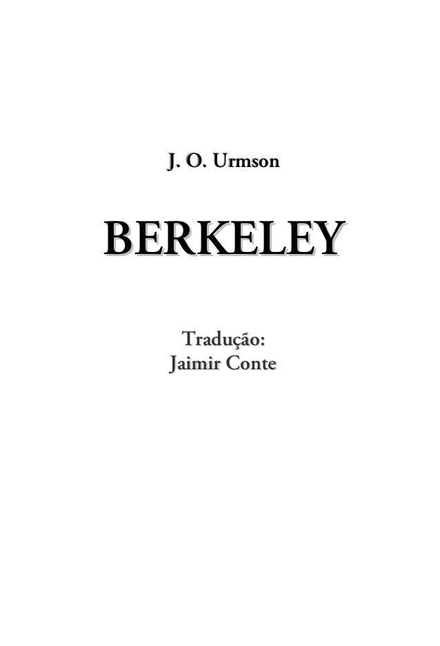 J.. O.. Urmson  J O UrmsonBERKELEY   Tradução:  Jaimir Conte