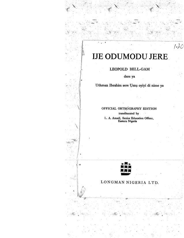 """""""Odumodu's Journey"""""""