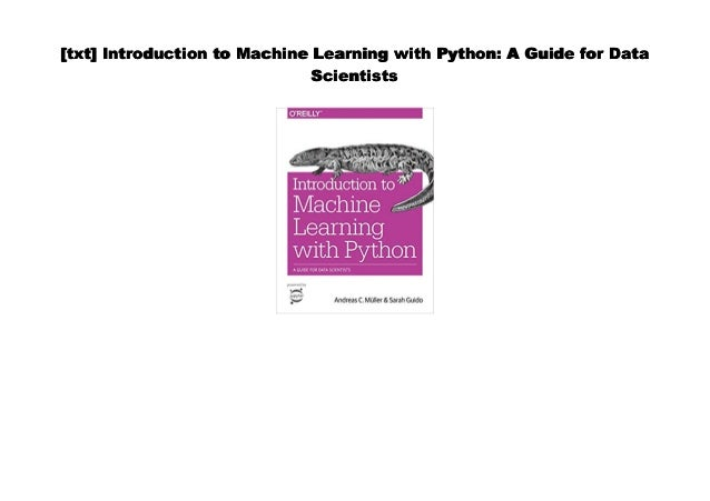 PDF] Introduction to Machine Learning with Python: A Guide