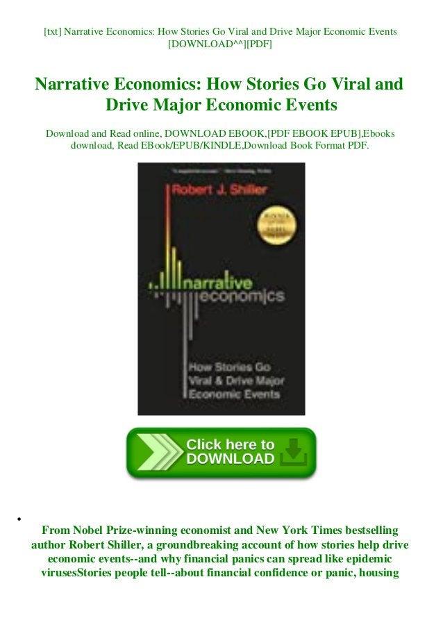 [txt] Narrative Economics: How Stories Go Viral and Drive Major Economic Events [DOWNLOAD^^][PDF] Narrative Economics: How...