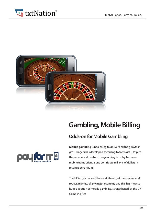Gambling mobile billing aladdin casino resort vegas