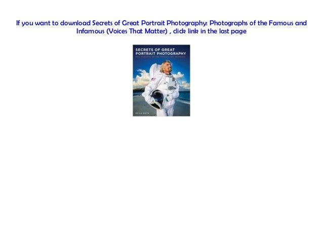 Pdf portrait photography great secrets of