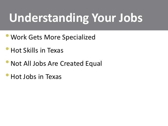 Understand Your Jobs; 13.