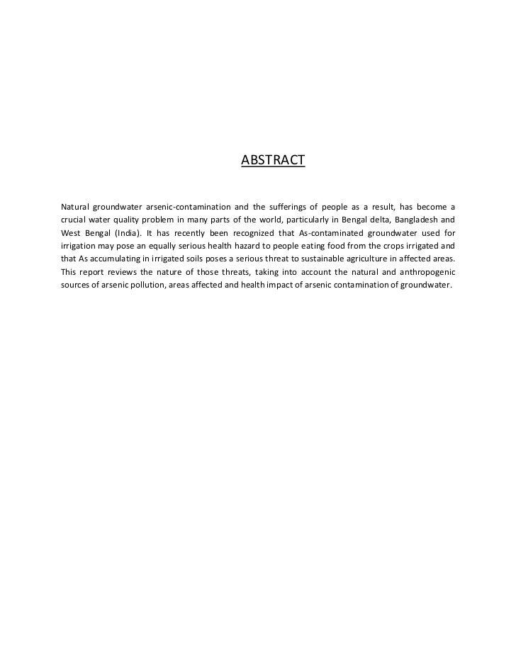arsenic contamination Arsenic contamination in soils - download as pdf file (pdf), text file (txt) or read online arsenic contamination.
