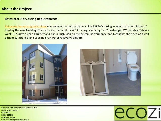 Ty Glas Extra Care Home Rainwater Harvesting Case Study