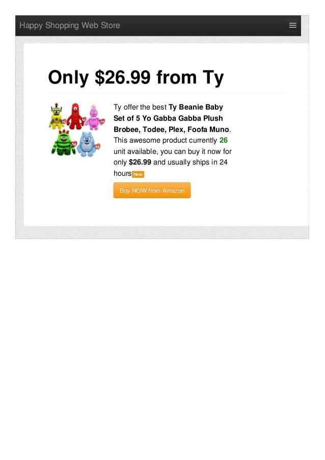a768de42ad4 Happy Shopping Web StoreTy offer the best Ty Beanie BabySet of 5 Yo Gabba  Gabba PlushBrobee