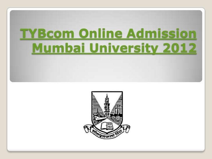 TYBcom Online Admission Mumbai University 2012