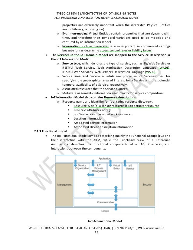 TYBSC CS SEM 5 IOT NOTES UNIT 1, 2, 3