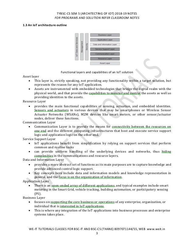 TYBSC CS SEM 5 IOT NOTES UNIT 1, 2, 3