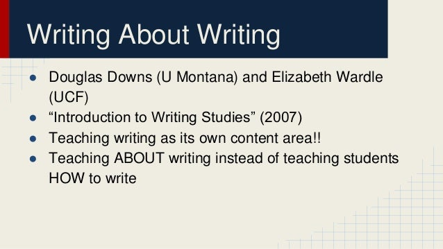 Wordle and downs writing about writing
