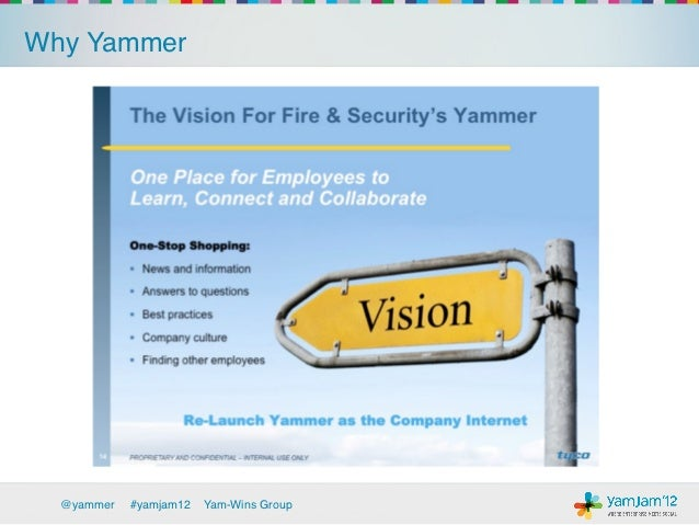 Why Yammer!            It was easy and worked:!            ›   Viral adoption, rapid growth, product usage!            ›...
