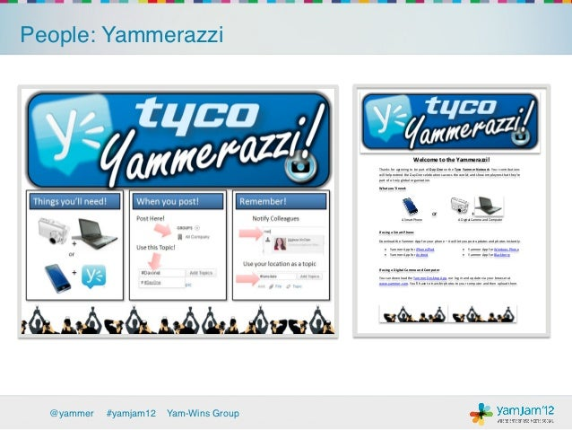 People: Yammerazzi!                                                                     Welcome to the Yammerazzi!        ...