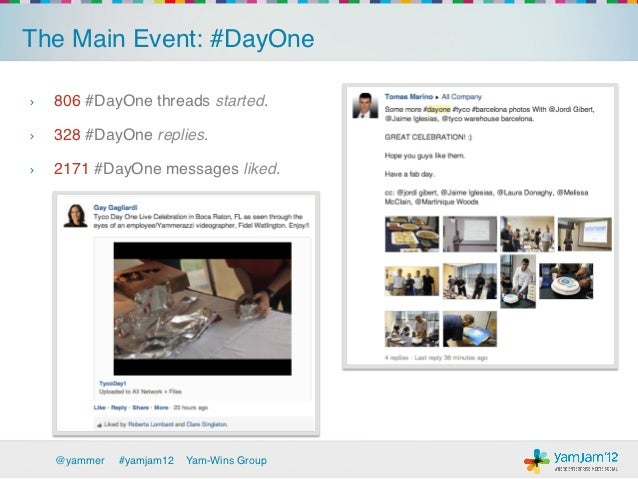 The Main Event: #DayOne!›   806 #DayOne threads started.!›   328 #DayOne replies.!›   2171 #DayOne messages liked.!    ...