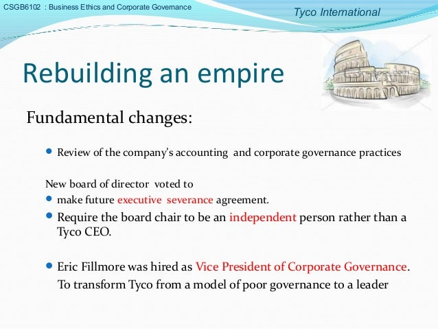 tyco international a case of corporate malfeaseance 53 rows list of corporate collapses and scandals  court case where allegations were made by ex-employees that the bank's senior management  tyco international,.