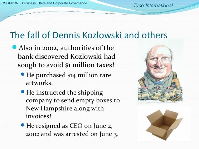 case study tyco international leadership crisis Tyco international: leadership crisis introduction this case begins with a brief history of tyco, followed by an explanation of tyco ceo l dennis.