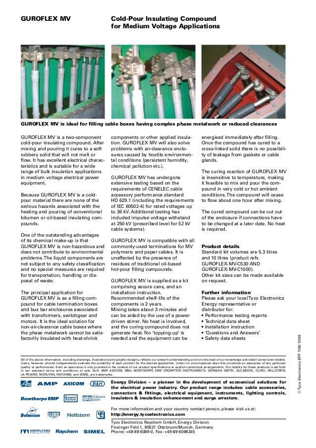 Tyco Guroflex High Voltage Electrical Insulating Compound