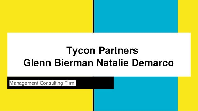 Tycon Partners Glenn Bierman Natalie Demarco Management Consulting Firm