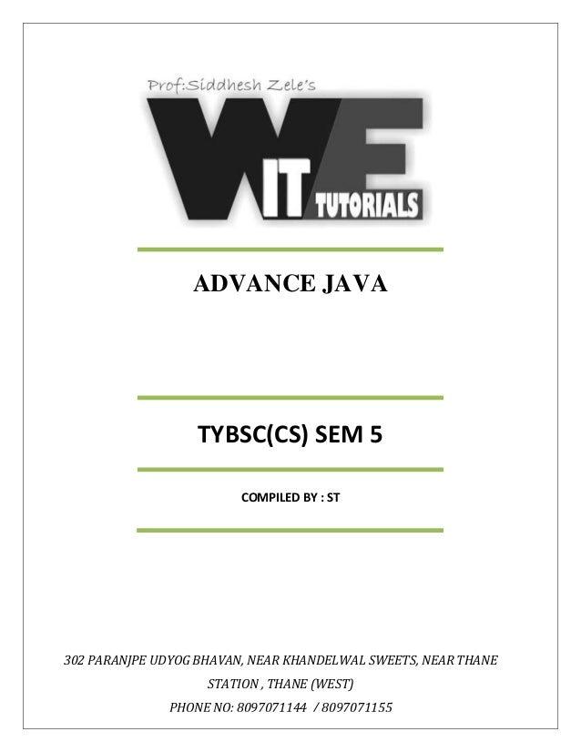 Tycs advance java sem 5 unit 1,2,3,4 (2017)