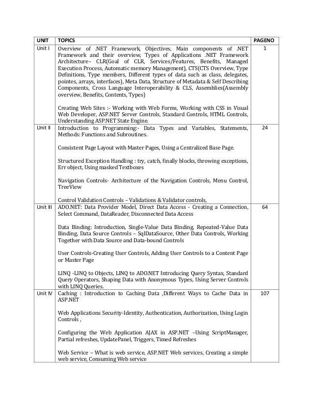 Tycs sem 5 asp net notes unit 1 2 3 4 (2017)