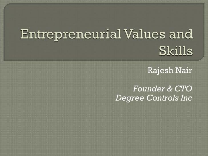 Rajesh Nair Founder & CTO Degree Controls Inc