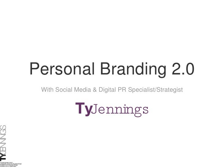 Personal Branding 2.0 With Social Media & Digital PR Specialist/Strategist