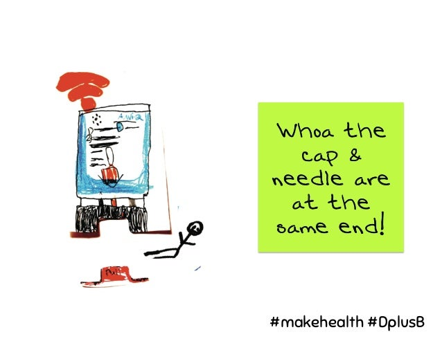 Whoa the cap & needle are at the same end! #makehealth #DplusB