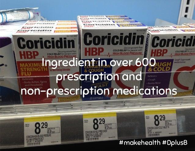 Ingredient in over 600 prescription and non-prescription medications #makehealth #DplusB