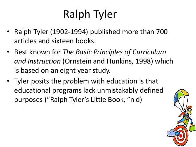 What is Ralph Tyler's model for curriculum design?