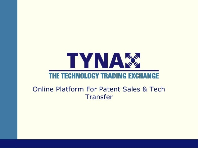Online Platform For Patent Sales & Tech                Transfer