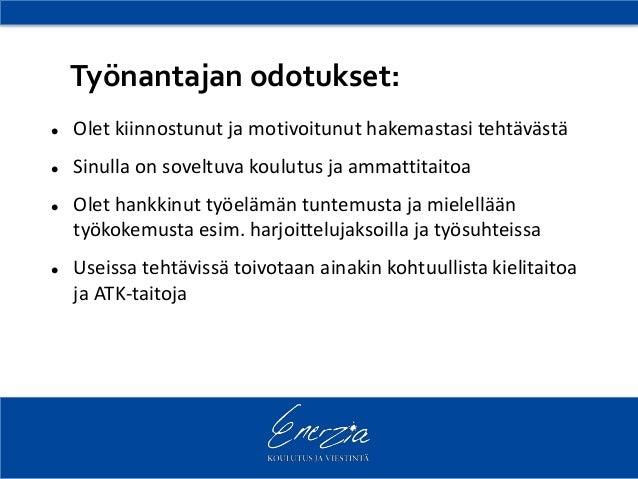 millainen on hyvä cv Kannuspalkkatoive työhakemukseen malli Helsinki