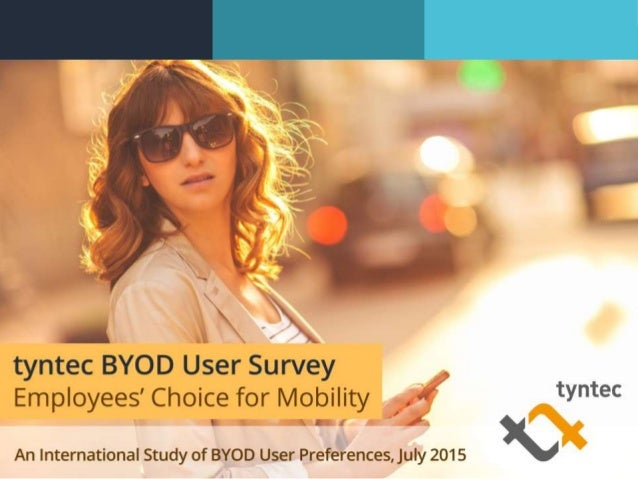 tyntec BYOD User Survey Report | 20152 Content Introduction About the Survey Key Findings & Insights 1. BYOD 2. Employee H...