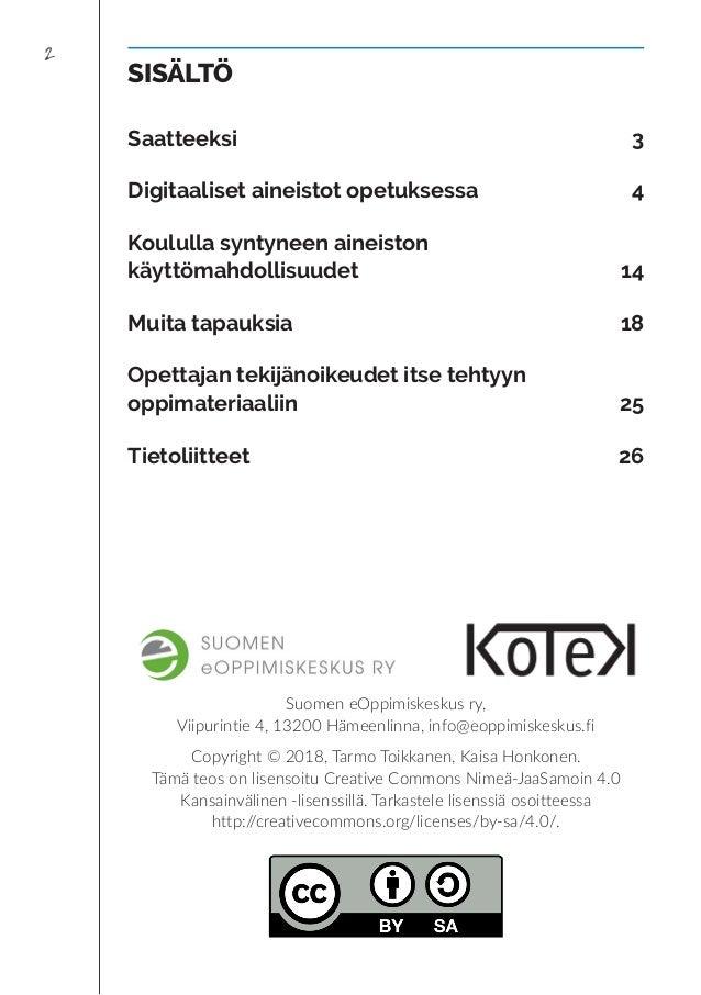 Opettajan tekijänoikeus -työkirja Slide 2