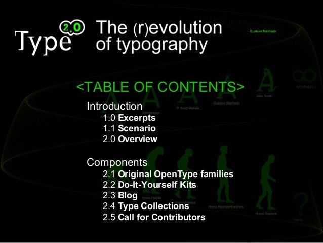Type 2.0 - The (R)Evolution of Typography Slide 2