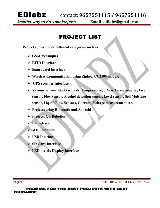 Type 2 Final Project List 15 16