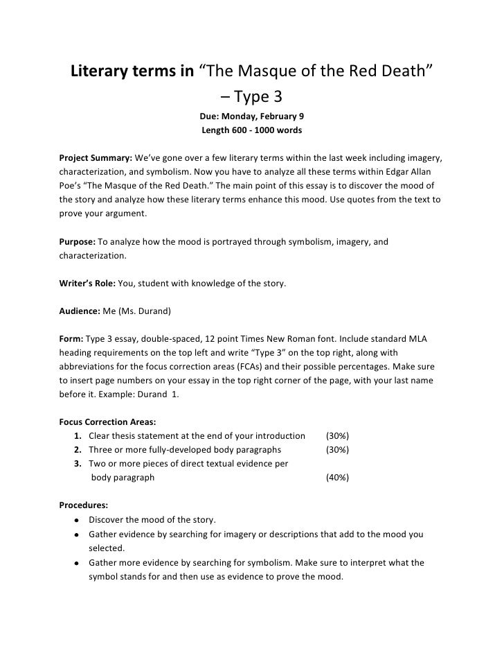 Literary terms thesis statement