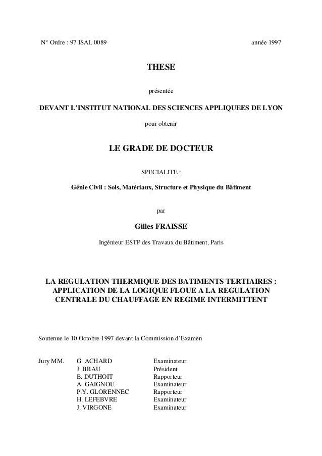 N° Ordre : 97 ISAL 0089 année 1997 THESE présentée DEVANT L'INSTITUT NATIONAL DES SCIENCES APPLIQUEES DE LYON pour obtenir...