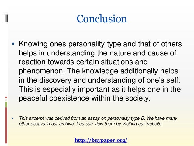type b personality  11 conclusion  knowing ones personality type
