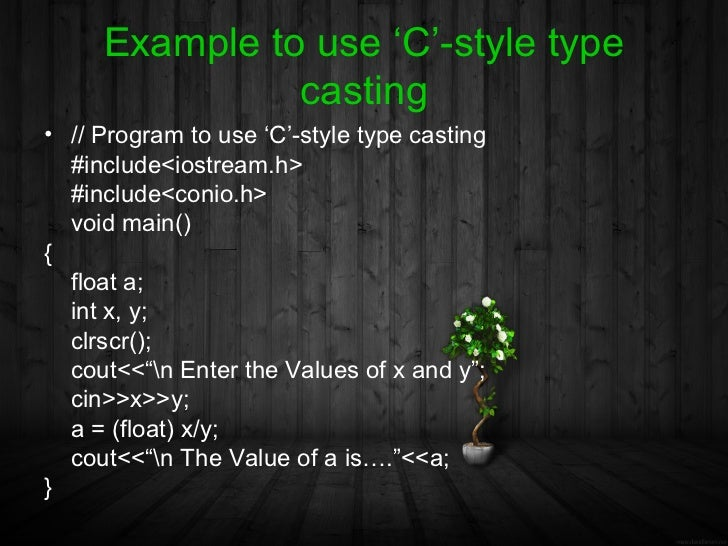 how to use a c in c++