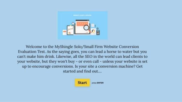 Assessment Test for Law Firm Websites