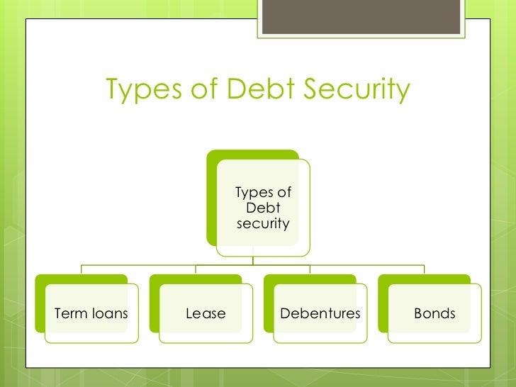 type of debt security
