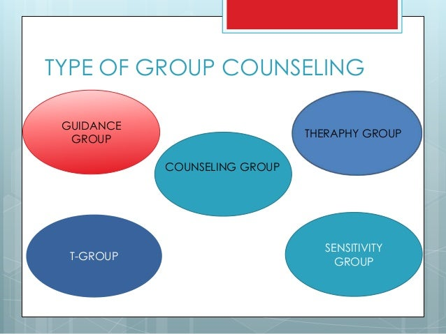 group counselling What is group therapy in group therapy approximately 6-10 individuals meet face-to-face with a trained group therapist during the group meeting time, members decide.