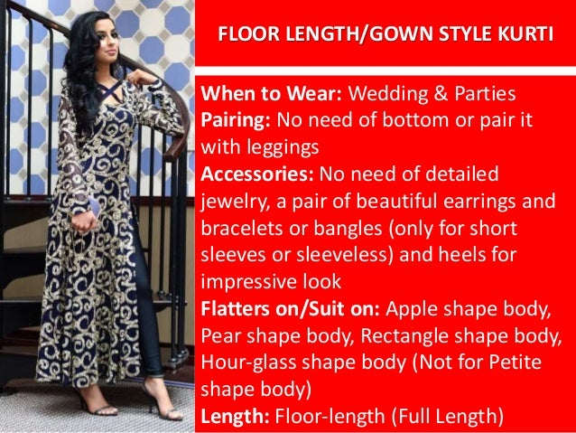 Type of kurties for Floor length kurti