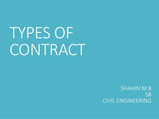 types of contract in civil engineering pdf