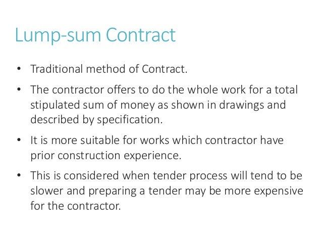 Beautiful Types Of Construction Contract Images  Best Resume