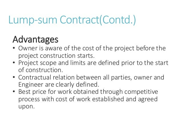 types of contracts in construction pdf