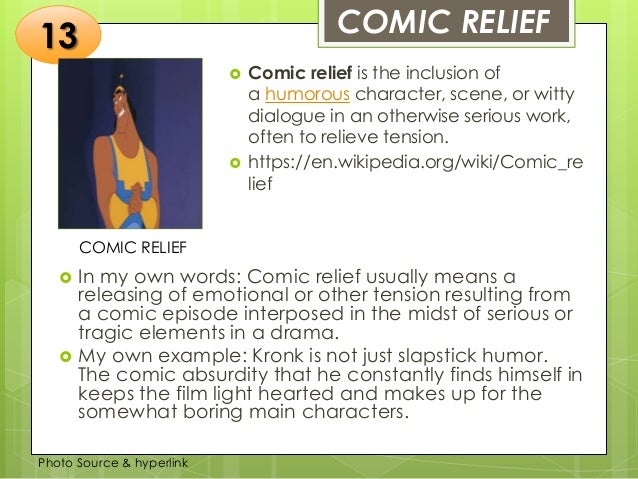 comic relief definition in literature
