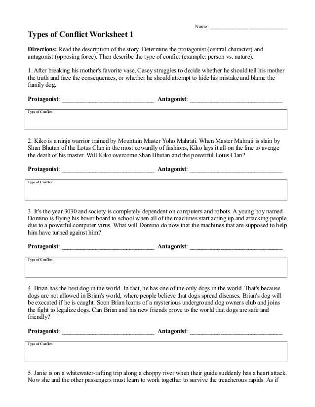 identifying conflict worksheet - laveyla.com