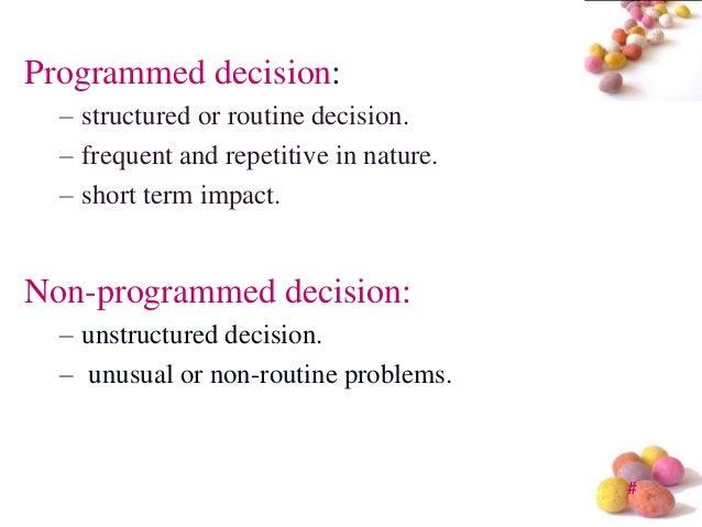 non programmed decision