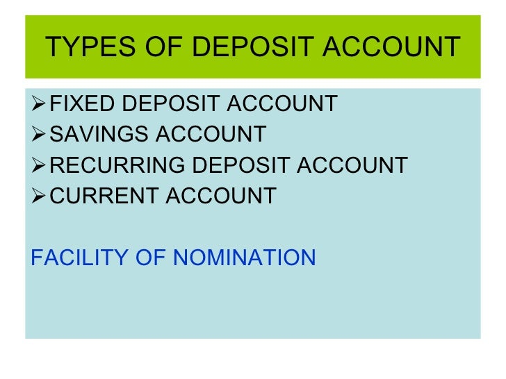 What are recurring deposit account?